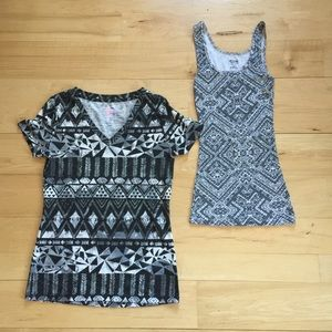 Tops - 🎀Pair of tribal print tops